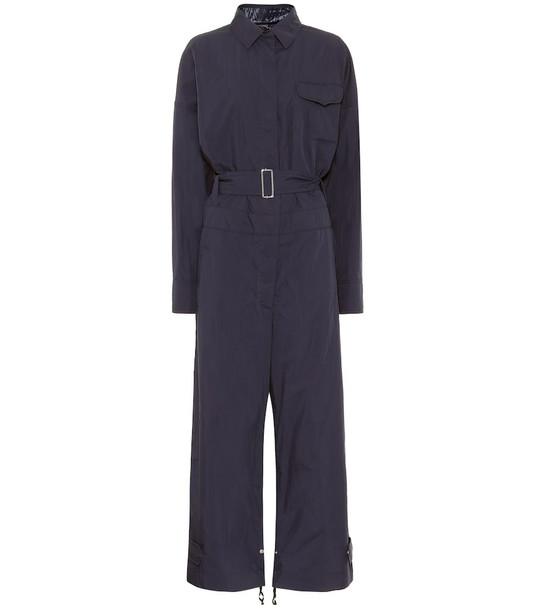 Moncler Genius 2 MONCLER 1952 Tuta cotton-blend jumpsuit in blue