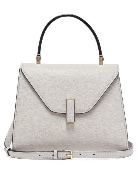 Valextra - Iside Mini Grained Leather Bag - Womens - Grey