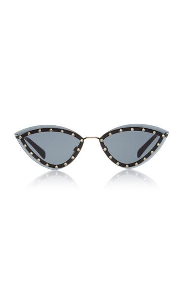 Valentino Glamtech Cat-Eye Sunglasses in black