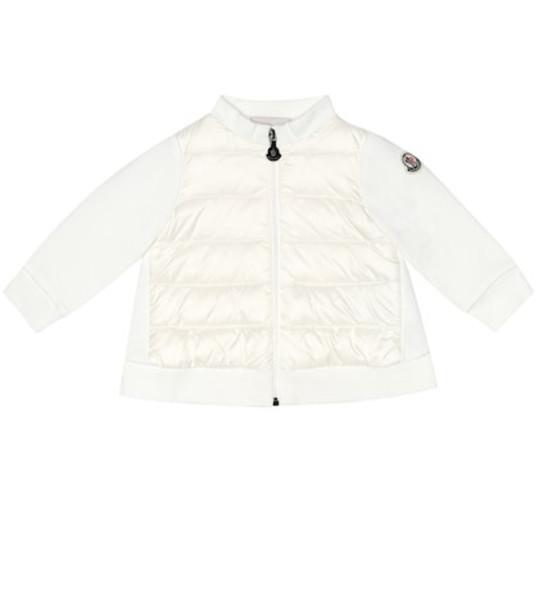 Moncler Enfant Baby stretch-cotton sweatshirt in white