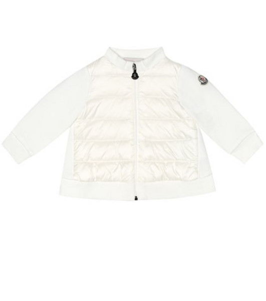 Moncler Enfant Baby stretch-cotton sweatshirt in white
