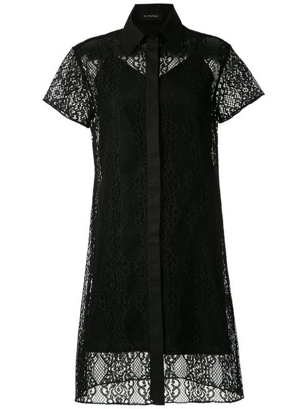 Olympiah Tournesol lace short dress in black