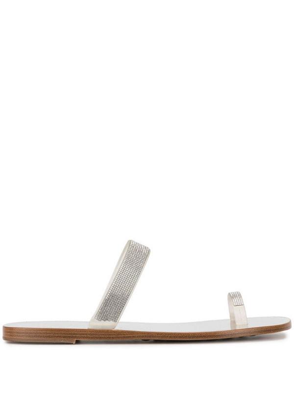 Pedro Garcia embellished sandals in silver
