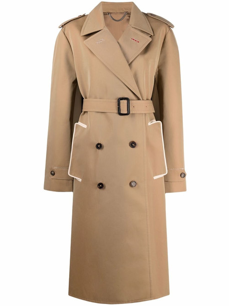 Maison Margiela double-breasted trench coat - Neutrals