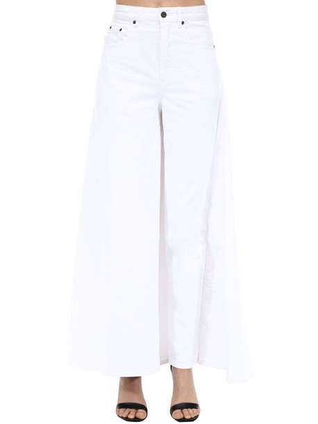 Y PROJECT Cotton Denim Skirt in white