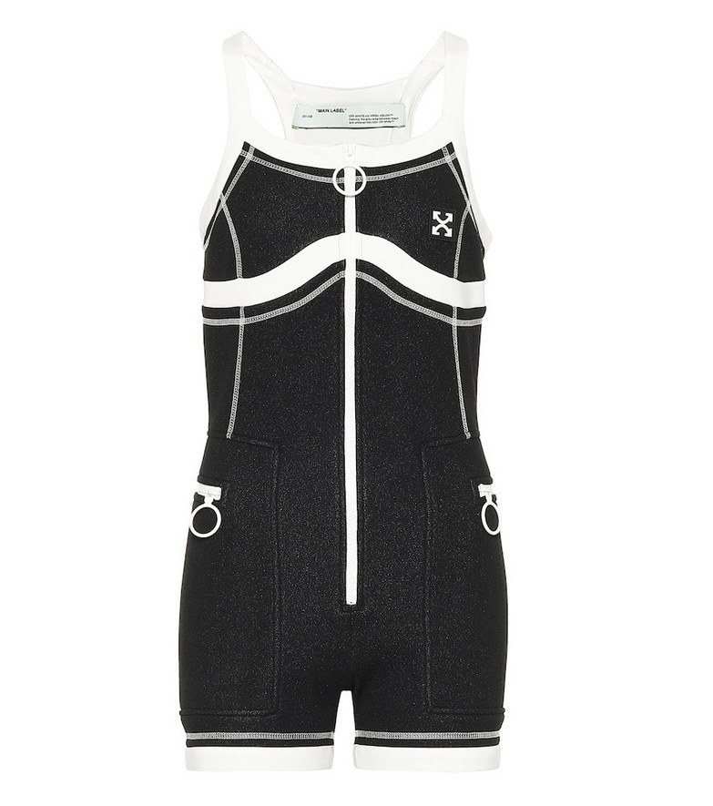 Off-White Stretch-jersey bodysuit in black