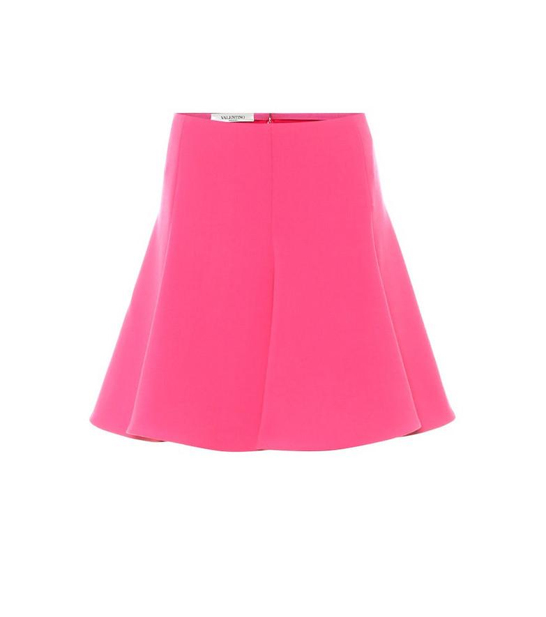 Valentino High-rise crêpe miniskirt in pink