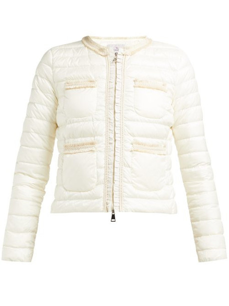 Moncler - Wellington Braided Quilted Down Jacket - Womens - White