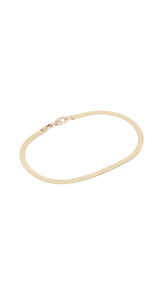 LANA JEWELRY Herringbone Bracelet in gold / yellow