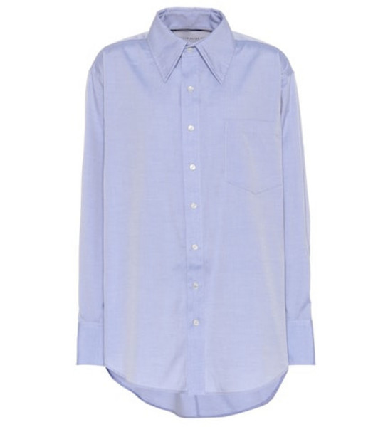 Matthew Adams Dolan Oversized cotton shirt in blue