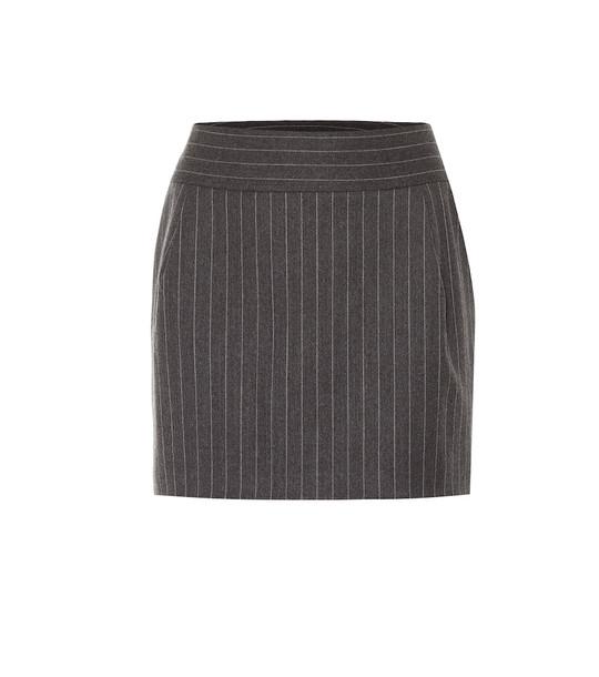 Alexandre Vauthier Pinstriped wool-blend miniskirt in grey