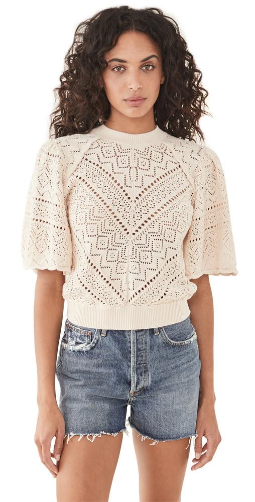 Ba & sh Claire Sweater in ecru