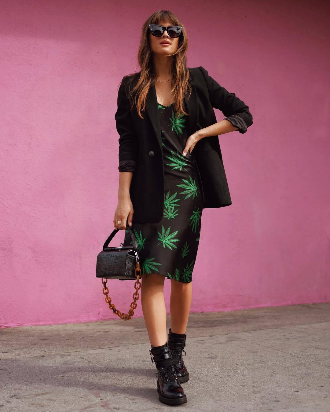dress midi dress blazer black blazer rocky barnes instagram blogger spring outfits