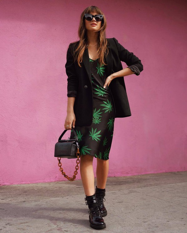 dress midi dress blazer black blazer rocky barnes instagram blogger spring outfits