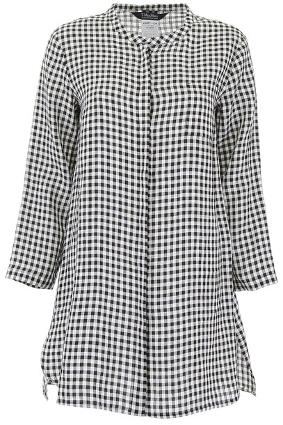 Max Mara Studio Vichy Shirt Dress in nero / ecru