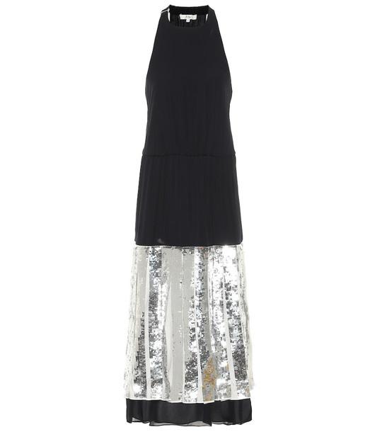 Tibi Claude sequined dress in black