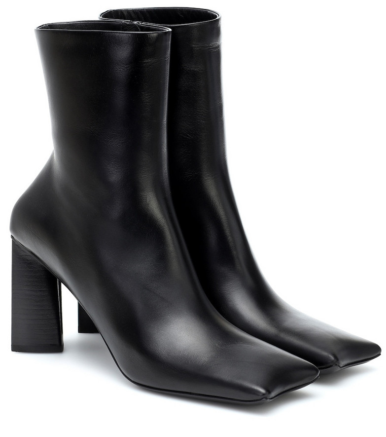 Balenciaga Moon leather ankle boots in black