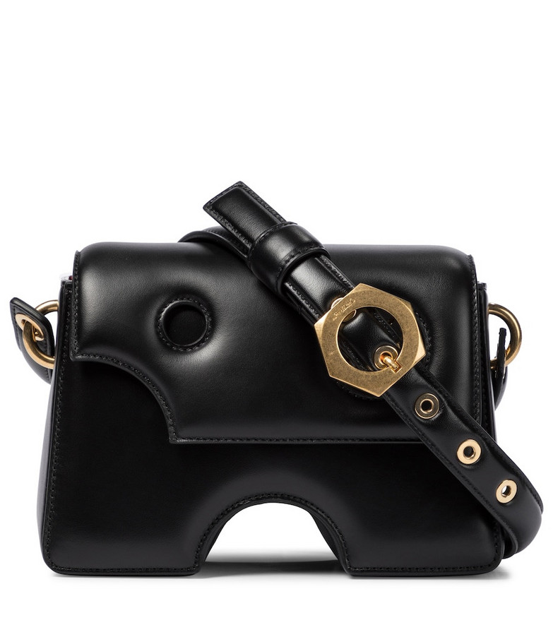 Off-White Burrow 22 leather shoudler bag in black