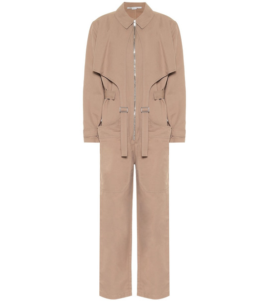 Stella McCartney Paloma twill jumpsuit in brown