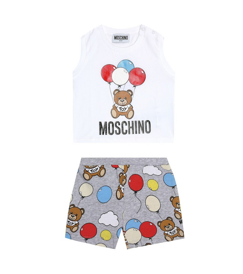 Moschino Kids Baby tank top and shorts set in white