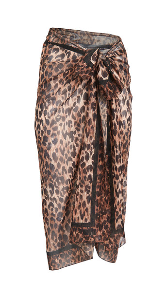 Solid & Striped The Pareo Wrap in print / leopard