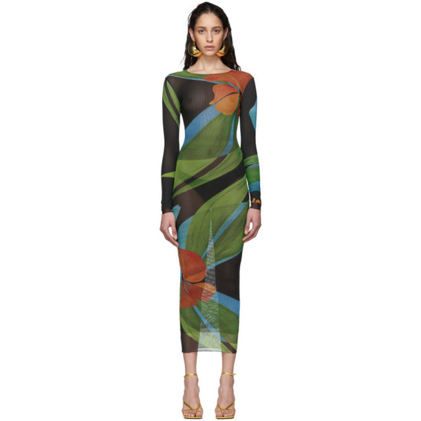 Louisa Ballou SSENSE Exclusive Multicolor High-Tide Double Layer Dress
