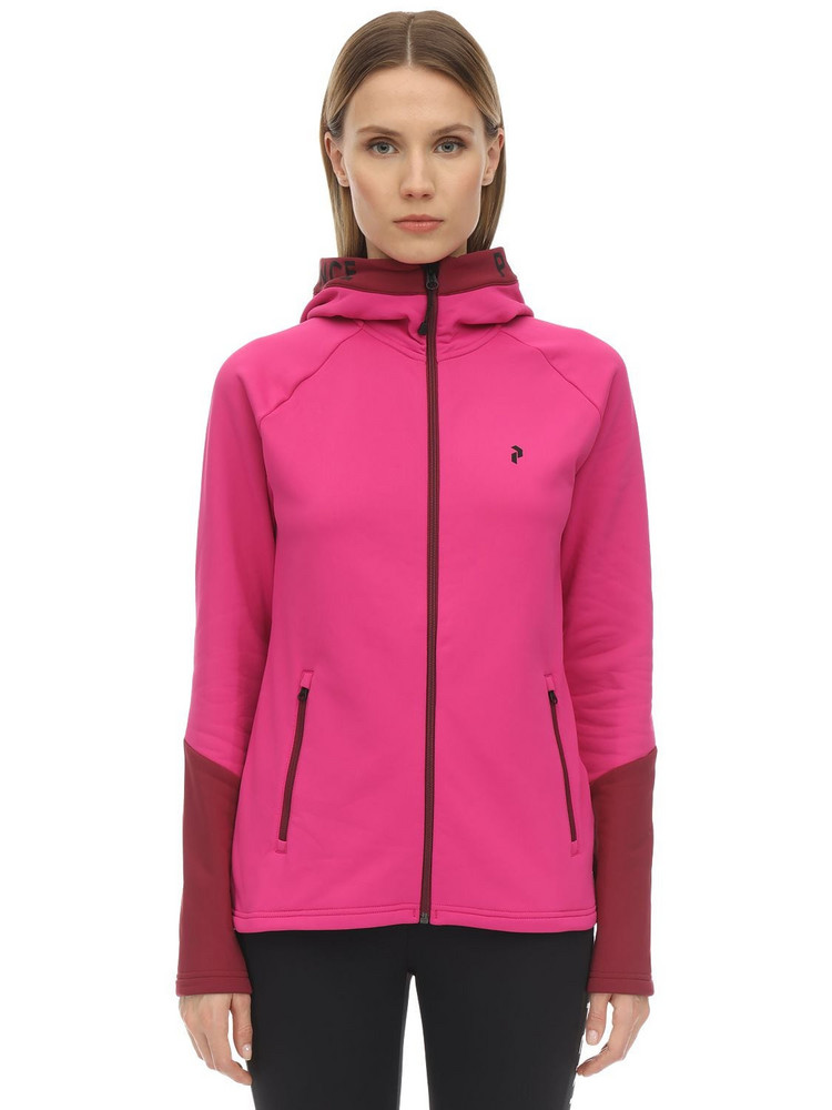 PEAK PERFORMANCE W Rider Zip Hoodie in fuchsia
