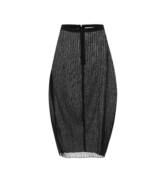 Jil Sander High-rise midi skirt in black