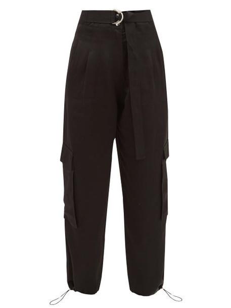 Lee Mathews - Juliette Patch Pocket Satin Trousers - Womens - Black
