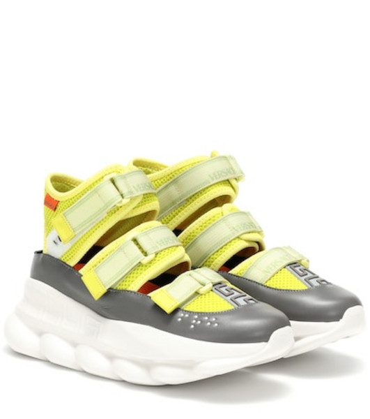 Versace Chain Reaction sneakers in yellow