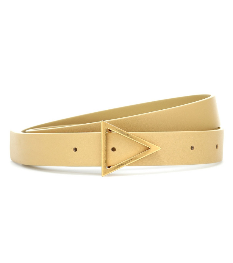 Bottega Veneta Leather belt in yellow