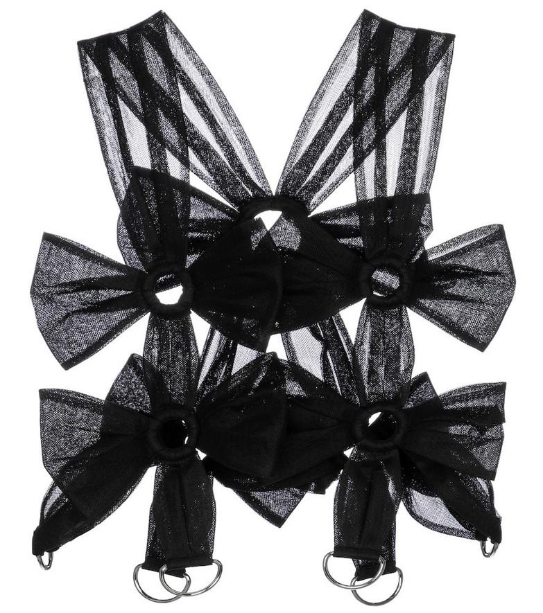 Noir Kei Ninomiya Tulle crop top in black
