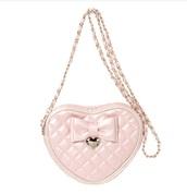 bag,himekaji,heart shaped bag,quilted bag,pink bag,hime gyaru,girly quilted bag,pastel pink bag