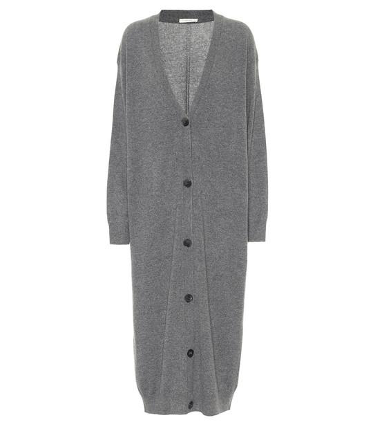 The Row Armando longline cashmere cardigan in grey