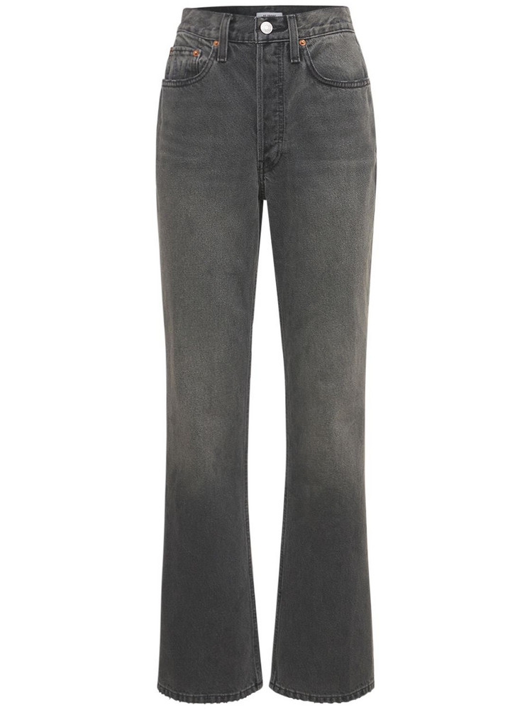 RE DONE 70s Bootcut Straight Jeans in black
