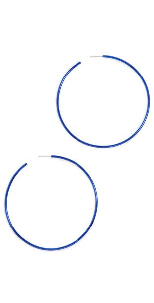 Isabel Marant Hip Color Hoop Earrings in blue