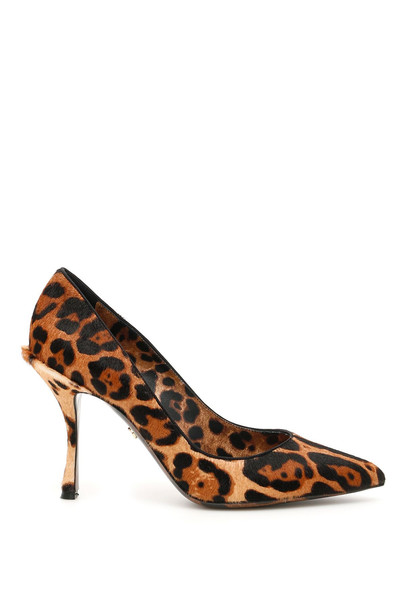 Dolce & Gabbana Animalier Lory Pumps in brown