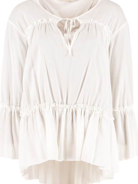 L'Autre Chose Blouse With Ruffles in white