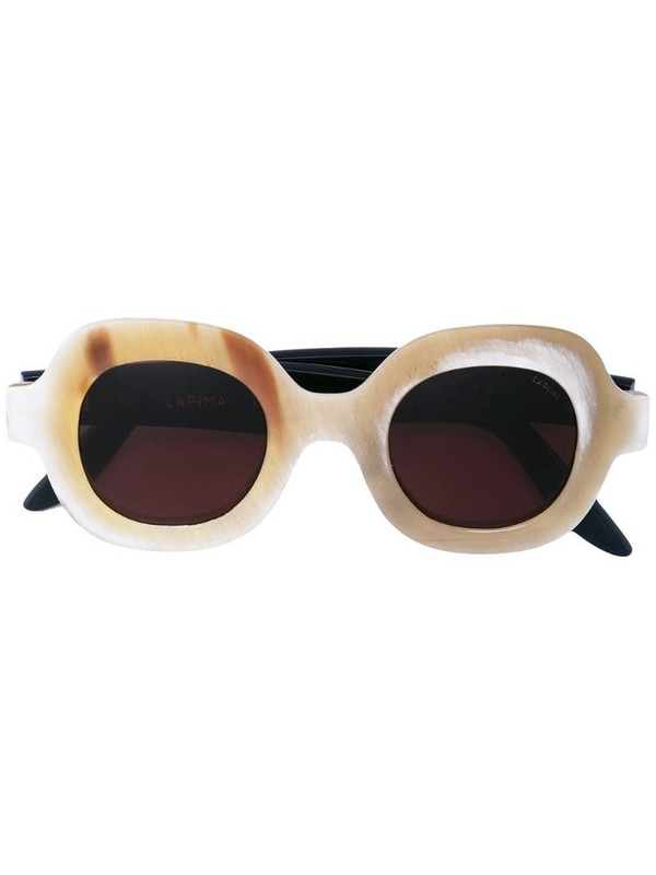 Lapima rounded mass sunglasses in neutrals