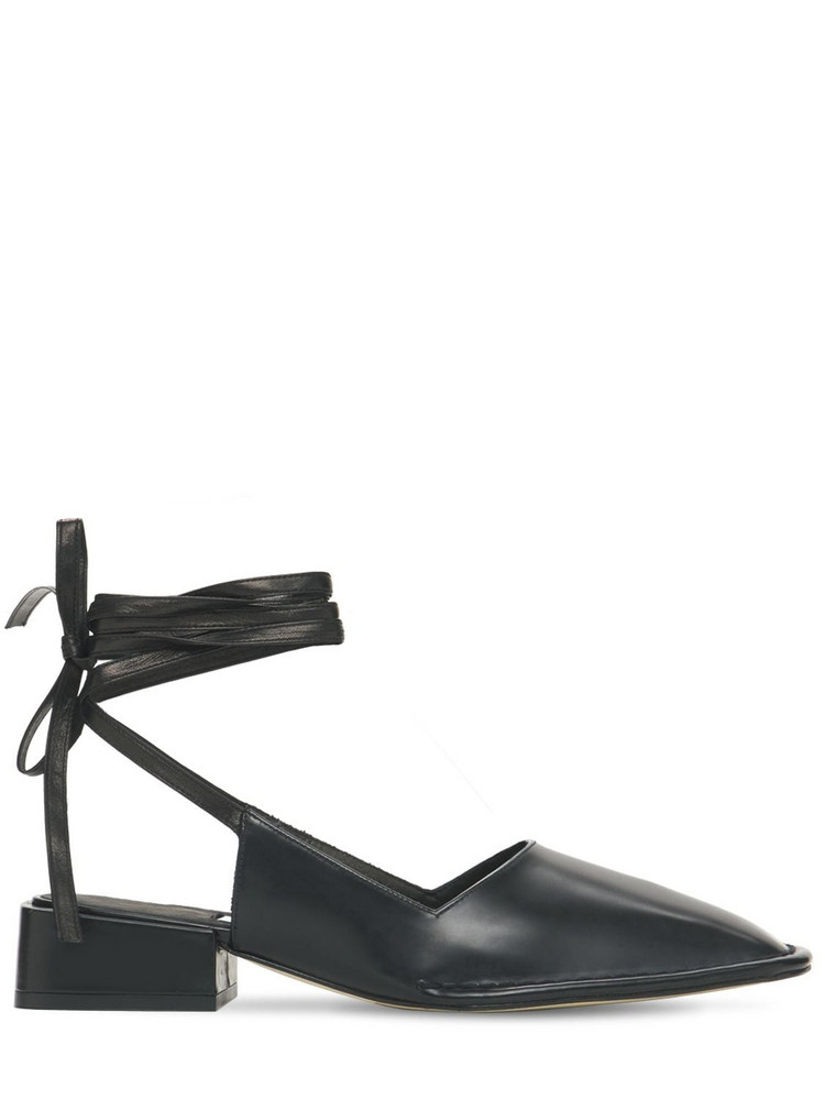 MIISTA 35mm Sierra Leather Lace-up Pumps in black