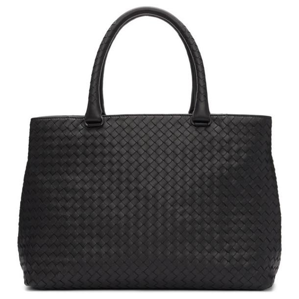 Bottega Veneta Black Intrecciato Leather Tote