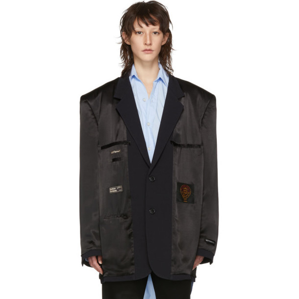 Vetements Black Inside-Out Blazer