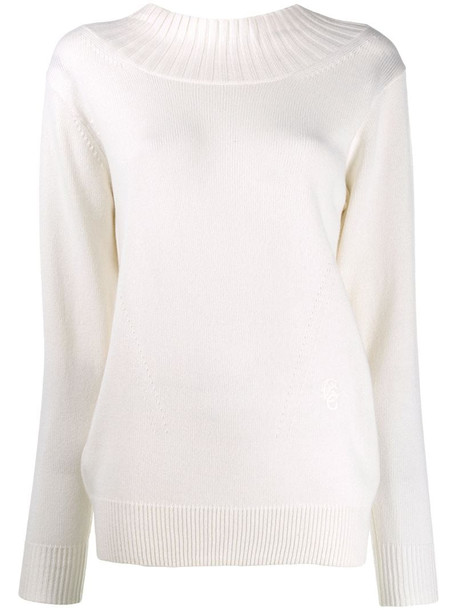 Chloé cut-out back sweater in white