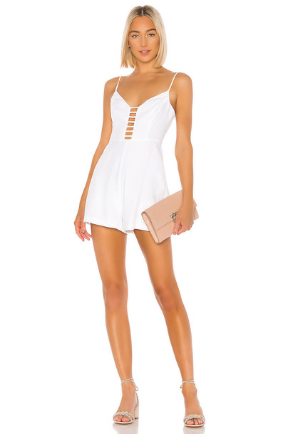BCBGeneration Ladder Front Romper in white
