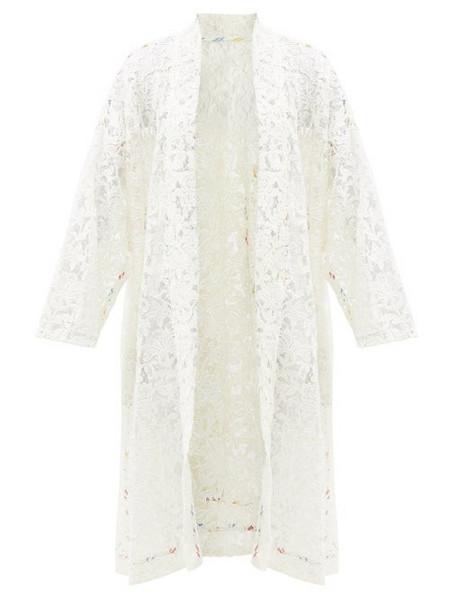 Rianna + Nina Rianna + Nina - Kendima Cotton Floral-lace Evening Coat - Womens - White