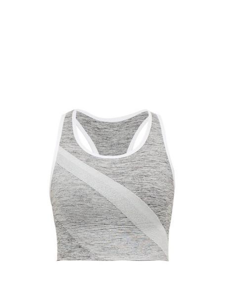 Lndr - Comet Jersey Sports Bra - Womens - Grey