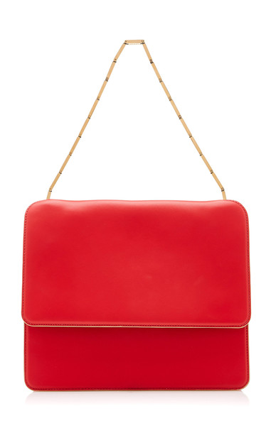 Marni Cachè Leather Shoulder Bag in red