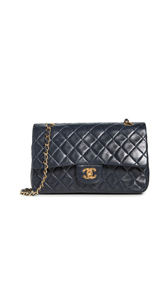What Goes Around Comes Around Chanel Quilted Bag in navy