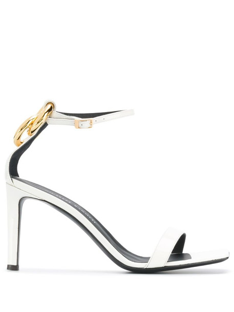 Giuseppe Zanotti square toe high-heel sandals in white