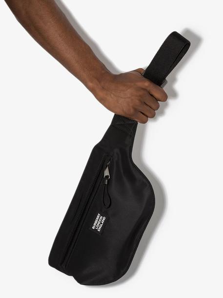 Burberry black Sonny logo patch belt bag